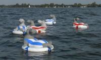 Hippo's uit varen